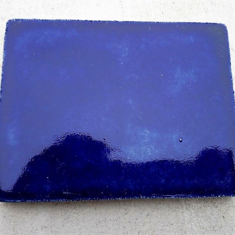 Плитка для каминов и печей с глазурью (кобальт)
