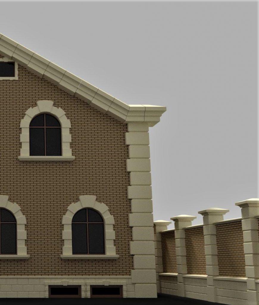 Фасадный декор внешних углов дома